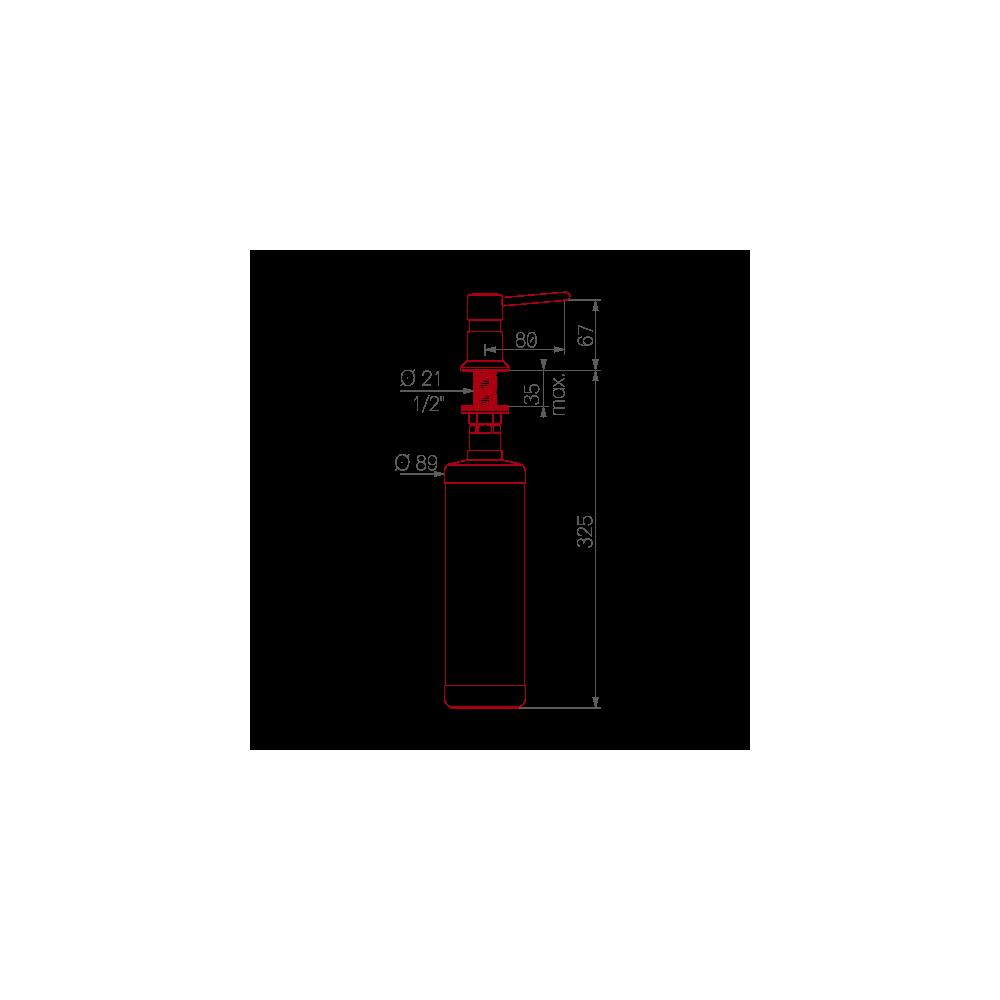 distributeur de savon liquide delabie ergonomique salamandre design. Black Bedroom Furniture Sets. Home Design Ideas